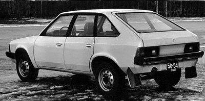 Один из первых образцов будущего Москвич-2141(1979 г).Вид сзади